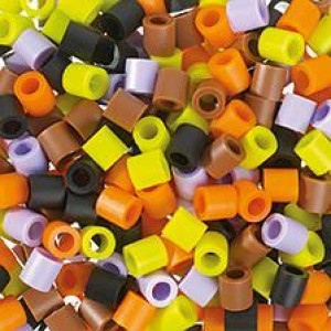 Nabbi ® Jumbo Beads – Bügelperle, ø10 x H10 mm, Herbst Mix