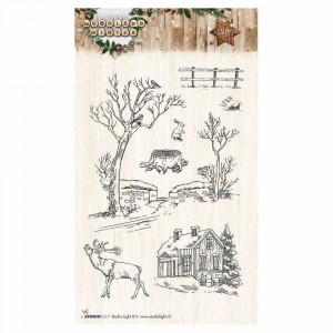 Stempel Clear, WOODLAND WINTER, A6 / 105 x 148 mm, 7 - teilig, transparent 192