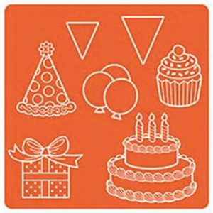 Mod Podge, Mod Mold Celebration, 95 x 95 mm 7 Designs