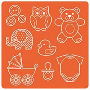 Mod Podge, Mod Mold Baby, 95 x 95 mm 8 Designs