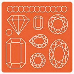 Mod Podge, Mod Mold Gems, 95 x 95 mm 9 Designs