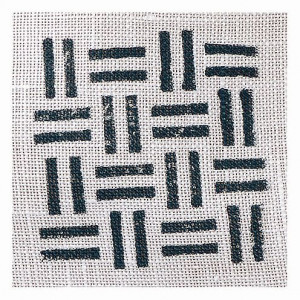 Fabric Creations™ Stempel, Small Basket Weave, ca. 4,2 x 4,2 cm